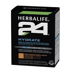 H24 Hydrate es una bebida sin calorías y con electrolitos diseñada para estimular el consumo de líquido. Contiene el 100% de la CDR (Cantidad Diaria Recomandada
